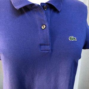 Women's Lacoste Polo Shirt Size 44 Purple Color